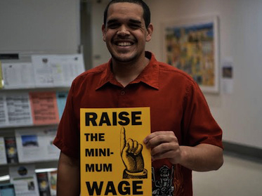 Richmond activist Melvin Willis campaigns to raise minimum wage by David Meza
