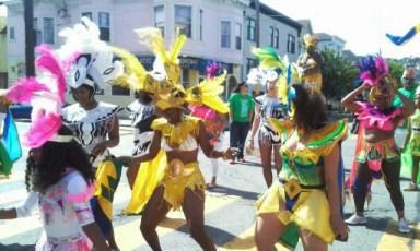 Soca dancing at San Francisco Carnaval