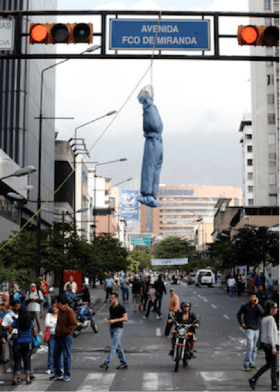 Mock anti-government lynching in wealthy Chacao, Caracas, Venezuela 030514-1 by News24.com