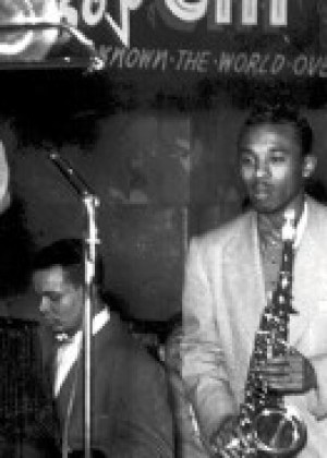 Cab Calloway performs at Jimbo's Bop City in the 1950s. When Redevelopment bulldozers destroyed the Fillmore, the Bop City building was one of 12 Victorians that activists managed to move to safety in 1976-1977. It landed at 1712 Fillmore St., where it became home to Marcus Book Store in 1981. – Photo: Kurt Bank