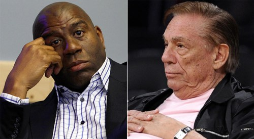"""Magic Johnson has turned Donald Sterling's attack into a teachable moment, telling Anderson Cooper: """"The stigma is still there. ... It's a shame that Donald used this platform with you, instead of using this platform to come out and apologize to the world, which would have been great."""" In a New York Times op-ed, Charles Blow called Sterling's comment, 'Is he (Johnson) an example for children?' particularly revolting. """"In attempting to AIDS-shame Johnson,"""" Blow writes, """"Sterling further shamed himself – if that's even possible – and proved supremely disrespectful of and destructive to people living with HIV and those (like Johnson, who responded magnanimously) who are working to reach the affected and protect those at risk. In this it is clear that Johnson is a far better example for our children than Sterling."""" New Yorker writer Michael Specter noted the effectiveness of Johnson's 1991 disclosure he was HIV-positive: """"Within a month of Magic Johnson's announcement, the number of people seeking HIV tests in New York City rose by 60 per cent."""" – Photos: Francine Orr, LA Times, and Mark J. Terrill, AP"""