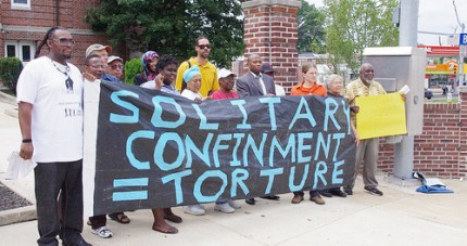 This picture, taken at a rally prior to an Aug. 2, 2010, Pennsylvania legislative hearing on solitary confinement by members of the Human Rights Coalition, And Justice for All, EXIT-US, International Friends and Family of Mumia Abu-Jamal, Back 2 Society, Reconstruction Inc. and the Republic of New Afrika, encouraged California prisoners as they undertook mass hunger strikes against solitary confinement in 2011 and 2013. The California and Pennsylvania prison systems share many similarities; Jeffrey Beard, previously head of the Pennsylvania Department of Corrections, was sworn in as CDCR secretary on Dec. 27, 2012.