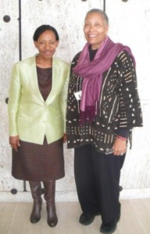 """Dr. Zonke Zaneke Majodina and Efia Nwangaza both participated in the ICCPR in Geneva March 14-15, 2014, Dr. Majodina as a member of the U.N. Human Rights Commission and Nwangaza to testify on behalf of U.S. political prisoners. Dr. Majodina cited Herman Wallace, who died four days after his release, which was blocked for decades solely because of the warden's fear of """"Black Pantherism."""" """"Cuba, Venezuela and South Africa called for the unconditional release of all U.S. political prisoners,"""" Ms. Nwangaza said. Both women called for U.N. Special Rapporteur on Torture Juan Mendez to be given unfettered access to all prisons in the U.S."""