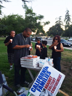 """In San Bernardino, a vigil was held at 6 p.m. on July 8 organized by California Families Against Solitary Confinement, who reminded the gathering, """"Through suffering we were strengthened by the courageous efforts of our loved ones on hunger strike."""""""