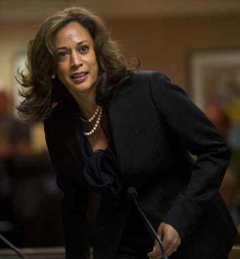 California Attorney General Kamala Harris