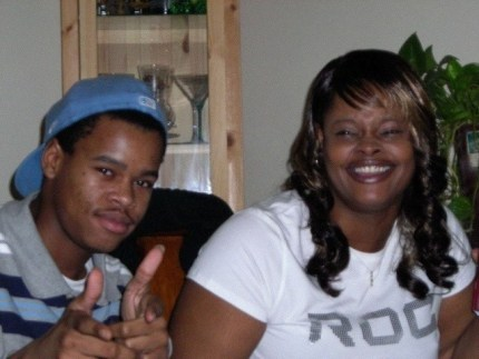 Kenneth Harding Jr. with his mother, Denika Chatman