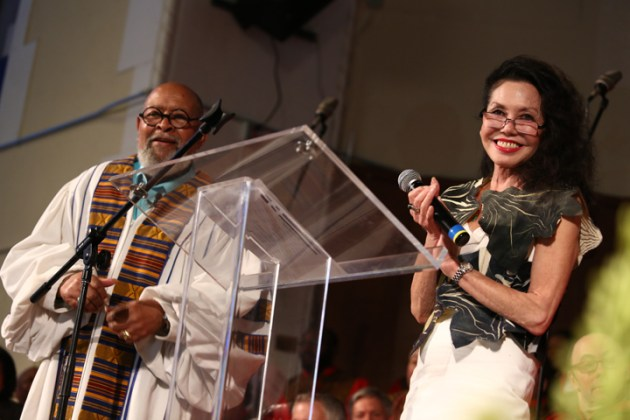 Rev. Cecil Williams and his wife, former San Francisco poet laureate Janice Mirikitani, hosted the tribute to their close friend Maya Angelou at Glide Memorial. – Photo: TaSin Sabir