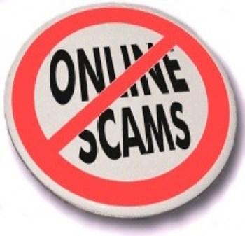 No 'Online scams' button