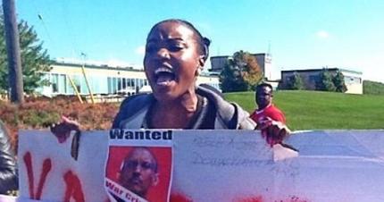 Kagame Day protest, Toronto 2013