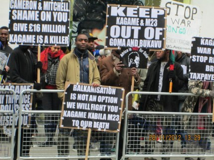 Rwanda Day protest, London 2012