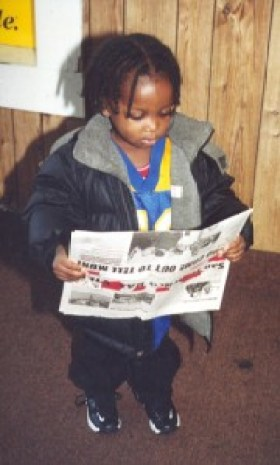 "Even very small children used to tag along with their older siblings to deliver the Bay View door to door in Bayview Hunters Point. Young adults often stop us to ask, ""Do you remember me? I used to carry the paper – and I've read it all my life."" Poet Curtis Johnson Jr. is one of those wonderful children. The paper in this photo has our pre-2003 masthead."