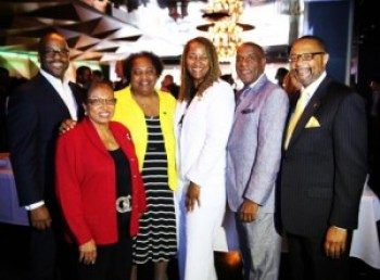 Sen. Holly J. Mitchell, who chairs the California Legislative Black Caucus, is shown here with a few of the 2014 members: Isadore Hall, Cheryl Brown, Dr. Shirley Weber, Mitchell, Steven Bradford and Reginald Jones-Sawyer.