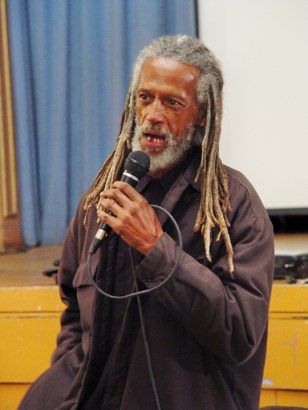 Whenever Elder Freeman spoke – here in 2008 – he encouraged and inspired the people. – Photo: JR Valrey, Block Report