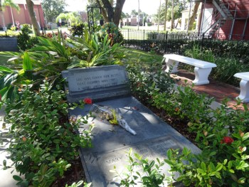 "Wanda writes: ""I also stopped by Mary McCleod Bethune gravesite at Bethune-Cookman University in Daytona Beach. The grave is near her house, which is a museum and foundation center."" – Photo: Wanda Sabir"