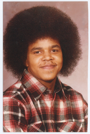 "Randall ""Sondai"" Ellis was locked up at the age of 16, about the time this picture was taken, for a crime that took no one's life. At 19, he was placed in solitary confinement on the testimony of ""confidential informants."" CDC has never identified them or revealed their testimony. Like many other accomplished jailhouse lawyers, he's still there 32 years later. ""My friends call me Sondai,"" he says, ""which means to push forward and endure."""