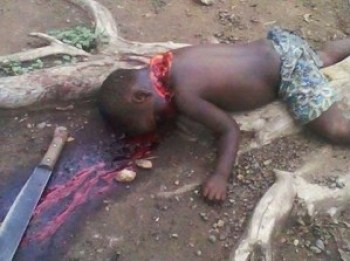 Is there a mother who will not take up a weapon to punish the savages who do this to her child?
