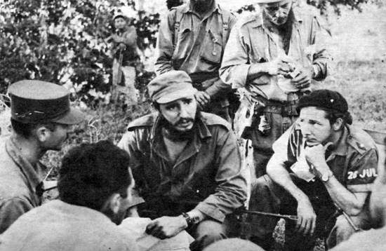 Young warriors Fidel and Raúl Castro fought the 1957-1958 revolution together.