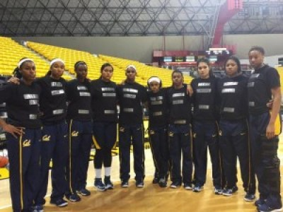 """After a week of intense protests in Berkeley, the UCB women's basketball team had planned to stage a protest at the next home game. But then, tweets forward Brittany Boyd, """"After today's events in Berkeley, entire team came 2 my hotel room & said we need to act 2day."""" With their coach's support, they put silver duct tape on the front of their T-shirts and wrote the name of a Black person killed by either police or by lynching. On the back, they wrote """"Black lives matter"""" and """"We are Cal WBB."""""""
