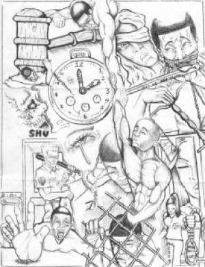 """""""Wake Up"""" – Art: Roger """"Rab"""" Moore, G-02296, HDSP Z-168, P.O. Box 3030, Susanville CA 96127"""
