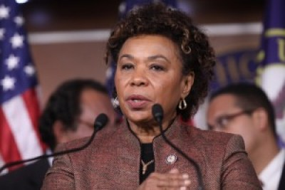 """Rep. Barbara Lee decries cuts to unemployment compensation in December 2011, calling them a """"moral outrage."""""""