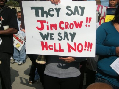The youngsters showed on Oct. 10, 2012, that they are determined to end the mass incarceration of the New Jim Crow as decisively as their grandparents' generation stamped out the cruel inequities of the old Jim Crow. – Photo: Virginia Gutierrez
