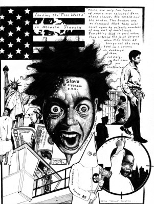 """Control Unit Torture"" – Art: Kevin ""Rashid"" Johnson, 1859887, Clements Unit, 9601 Spur 591, Amarillo TX 79107"