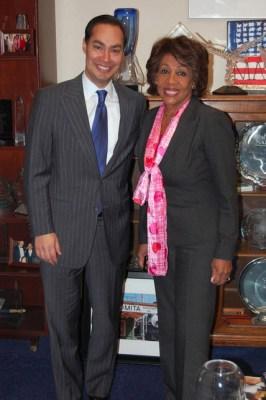 Congresswoman Maxine Waters and HUD Secretary Julián Castro
