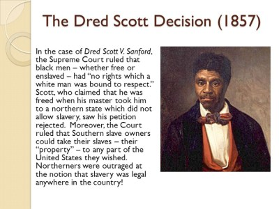 Dred Scott is buried about a mile down the same road from where Mike Brown was murdered.