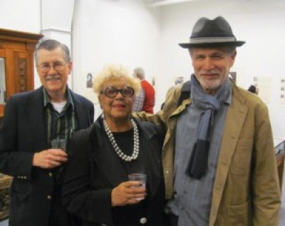 "The AAHCS reception Feb. 20 reunited old colleagues Max Millard and Rochelle Metcalfe, former staffers for the Sun Reporter, and Lewis Watts, author of ""Harlem of the West."""