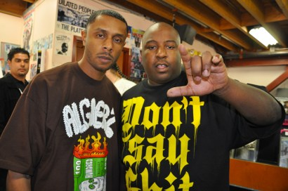 "PK and the Jacka at the release of ""Tear Gas"" on June 16, 2009. – Photo: D-Ray, Ozone Magazine"