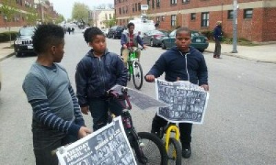 """Children asked by a reporter where they were headed said, """"We're going to the march. We'll be up front!"""""""