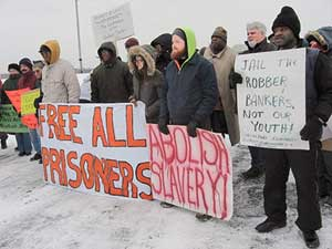 On Jan. 17, 2011, supporters rallied in the snow outside the prison to celebrate the successful conclusion of an earlier Lucasville prisoners' hunger strike. That time, they won all their demands, and their victory emboldened prisoners in California to organize the series of hunger strikes that culminated in 2013 with 30,000 prisoners participating.
