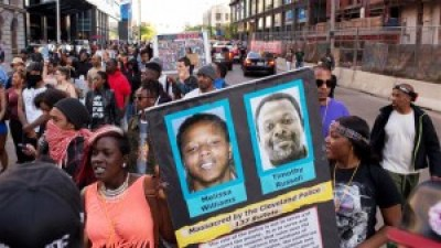 Outraged people have been taking to the streets in protest daily – with dozens arrested – since a judge on May 23 found Cleveland police officer Michael Brelo not guilty of manslaughter charges in the deaths of Timothy Russell and Malissa Williams in November 2012. – Photo: AFP
