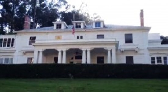 "The ""Great White"" mansion on Yerba Buena Island where Navy Admiral Nimitz lived"