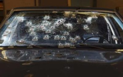 This is the car where Timothy Russell and Malissa Williams died in a hail of 137 Cleveland police bullets on Nov. 29, 2012. – Photo: Ohio Attorney General's Office