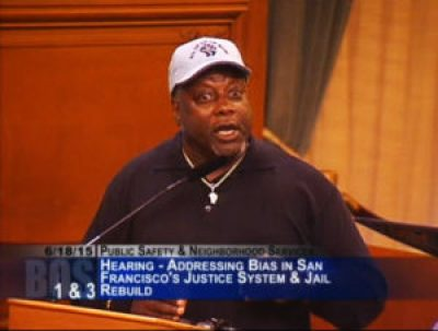 Hours of powerful testimony on June 18 before the San Francisco Board of Supervisors Public Safety Committee were capped off by Dorsey Nunn – and the crowd erupted in cheers. – Photo: PNN