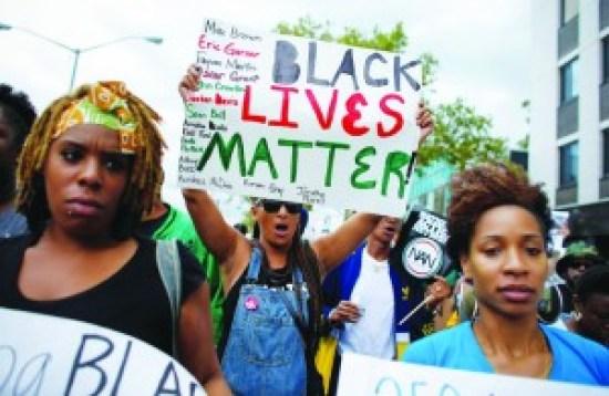 'Black Lives Matter' sistas marching