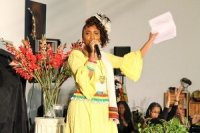 African spirituality infuses Sistah Iminah's music.