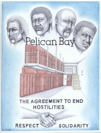 """The Agreement to End Hostilities"" – Art: Michael D. Russell, C-90473, PBSP SHU D7-217, P.O. Box 7500, Crescent City CA 95532"