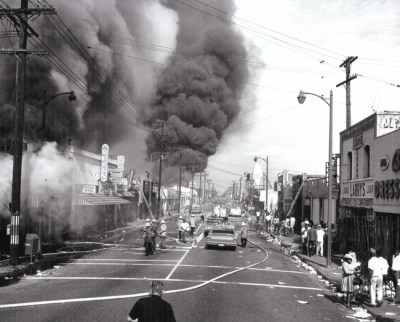 As firefighters pour water on the flames, the people of Watts discuss what their newfound Black power could accomplish. They had no model of a successful urban revolution to guide them.