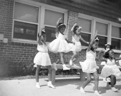 """Anacostia Dance Group,"" Frederick Douglass Housing Project, Washington, D.C., 1942 – Photo: Gordon Parks"