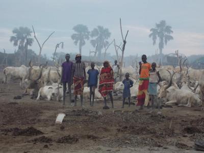 South Sudanese cattle herders in Rumbek