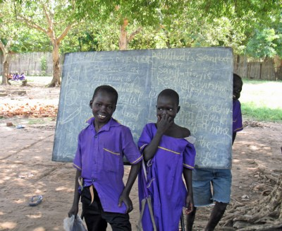 South Sudanese school children
