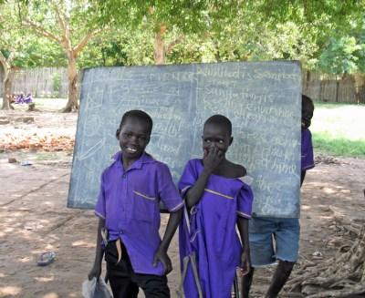 South Sudanese school children