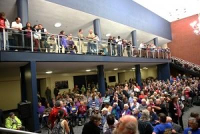 When Sen. Bernie Sanders spoke on behalf of Team Richmond on Oct. 16, 2014, he packed the Richmond Auditorium. – Photo: Malaika H Kambon