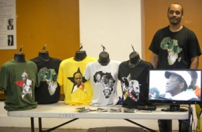 At the Bay View and Block Report's annual Black Media Appreciation Night on Sept. 12, Dr. Chris Zamani displayed his beautiful Hapo Zamani Za Kale T-shirts emblazoned with mostly African heroes. Get yours – and more for family and friends – at www.PanAfricanTees.com.