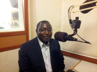 Father Thomas Nahimana at KPFA Radio in Berkeley