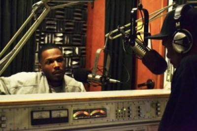 JR interviews Malcolm during a live broadcast at KPFA Dec. 3, 2011. – Photo: Block Report