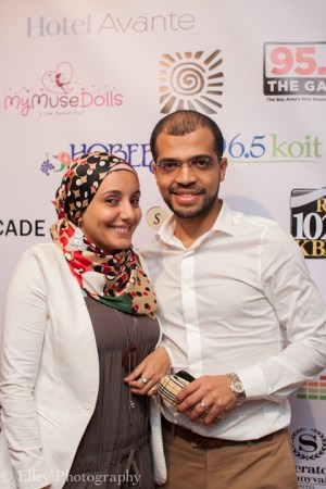 """Egyptian filmmakers Ms. Omnya Abdelwahab, director of the short film, """"Photography,"""" and her husband, Mohamed Essam, director of the short film, """"Ice Cream,"""" were among the many filmmakers attending SVAFF 2015. – Photo: Elley Ho, Elley Photography"""