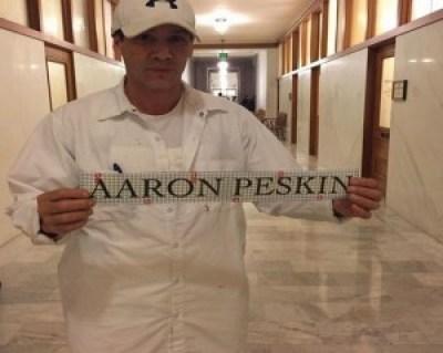 City Hall is readied for Supervisor Aaron Peskin's return.
